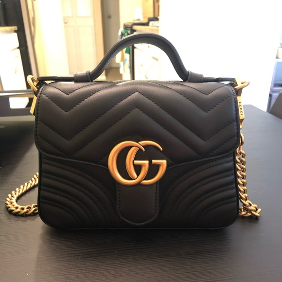 42d2b40f5315 Bags | Gucci Marmont Mini Top Handle Bag | Poshmark